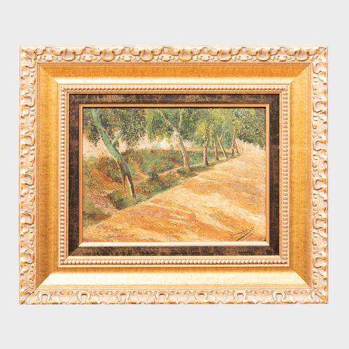 Attributed to Manuel Garcia Y Rodriguez (1863-1925): Park Allée