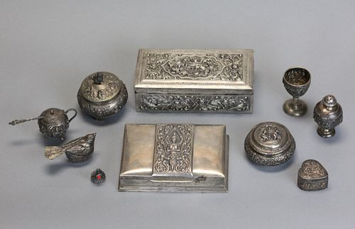 group of 11 silver wares