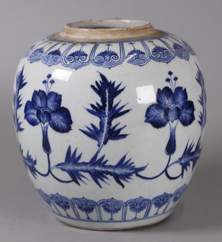 Chinese porcelain jar, possibly 18th c.