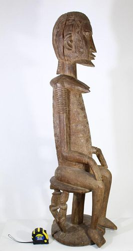 African Mali Dogon Carved Maternity Figure
