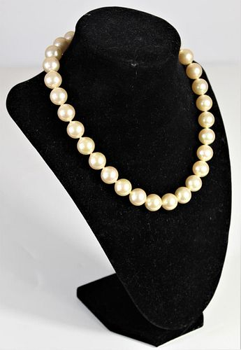 Ladies Sterling Silver & Pearl Necklace