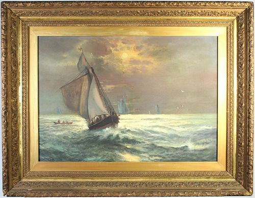 Maritime Scene (19th Century) O/C
