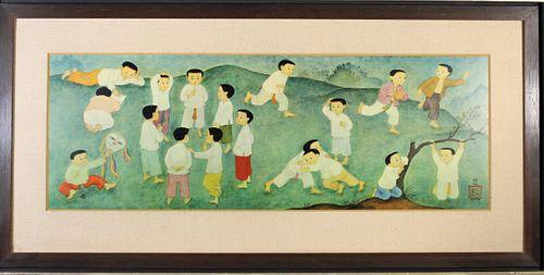 Mai Thu (Vietnam/Fr. 1906-1980) Lithograph