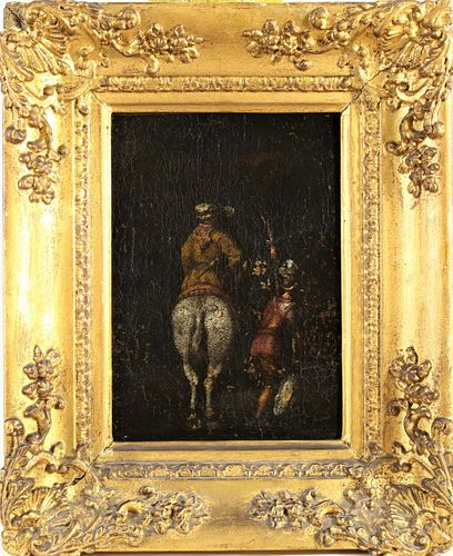 Old Master Painting of Soldiers, oil on canvas