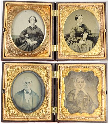 U.S. Thermoplastic Cases with Ambrotypes 1850's