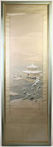 Large Chinese Gouache on Silk