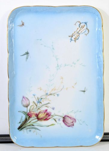 Antique Floral Porcelain Platter