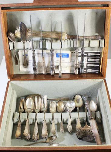 Mixed Set of Silver Plate Cutlery