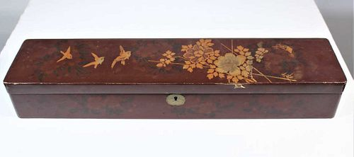 Chinese Wooden Scroll Box