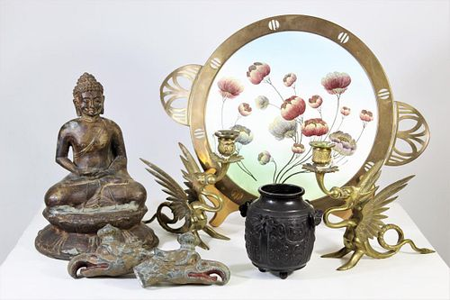 Collection of Brass and Bronze Chinese Pieces