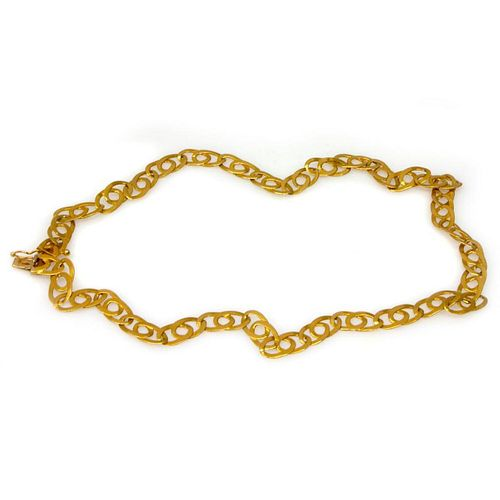 18k gold link necklace, Italy