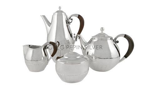 Vintage Georg Jensen Cosmos Tea & Coffee Set 45