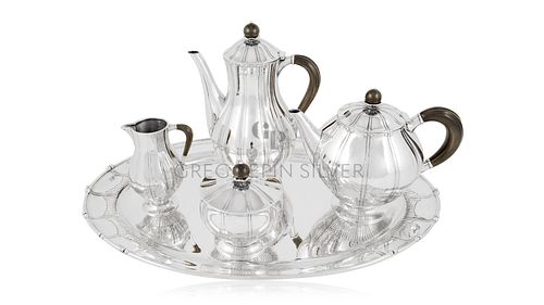 Rare Vintage Georg Jensen Tea Service 353 by Johan Rohde