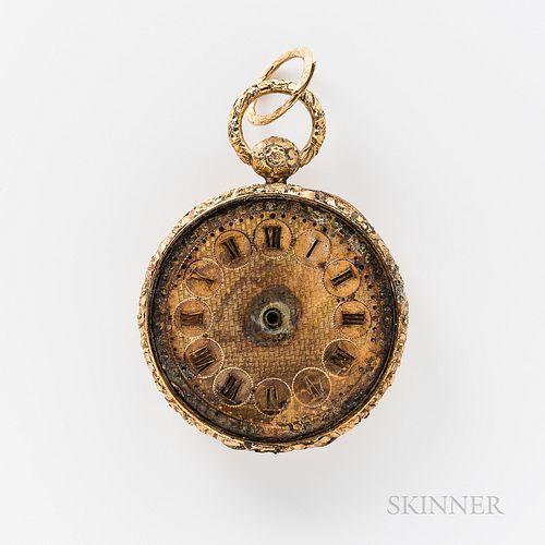 Steamship Pulaski   Shipwreck 19th Century 18kt Gold Open-face Watch