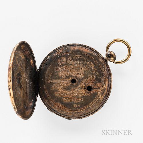 Steamship Pulaski   Shipwreck Arnold Adams & Co. 18kt Gold Open-face Watch