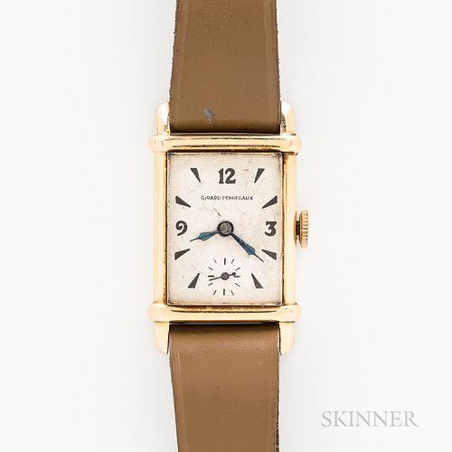 Girard Perregaux 14kt Gold Tank-style Wristwatch