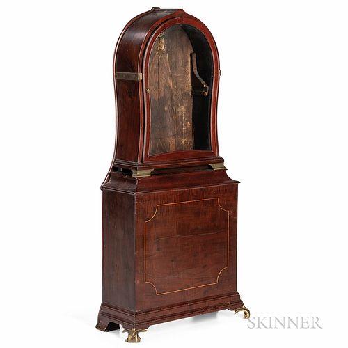 Massachusetts Mahogany Shelf Clock Case