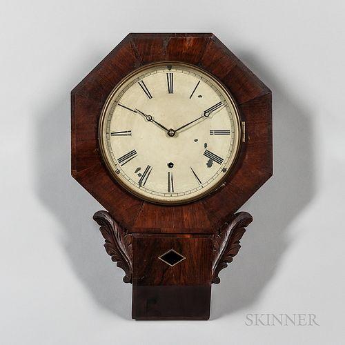 Jerome Fusee Drop Octagon Wall Clock
