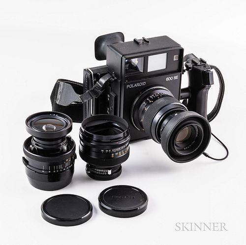 Polaroid 600 SE Camera and Three Mamiya Lenses