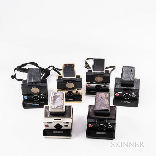Six Polaroid SX-70 Sonar Cameras