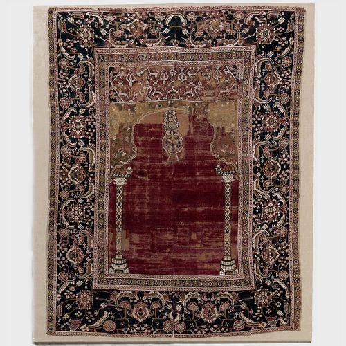 Egyptian Ottoman Cairene Prayer Rug