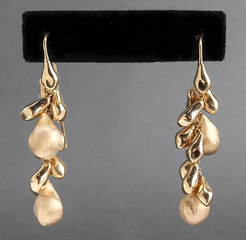 Marco Bicergo Style 18K Yellow Gold Drop Earrings