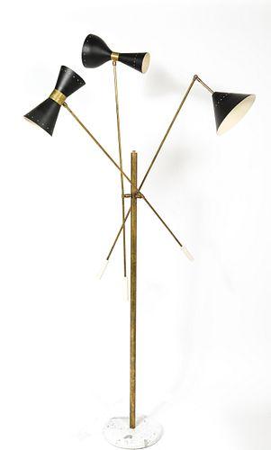 Stilnovo Attr. Modern Adjustable Three Arm Lamp