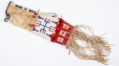 Sioux Indian beaded pipe bag
