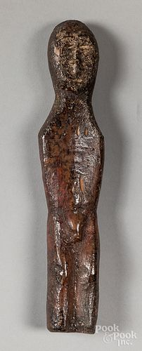 Punuk Eskimo fossilized walrus ivory male figure