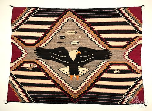 Navajo Indian third phase chief's blanket
