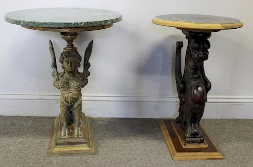 Miraculous End Table Lot Including Sphinx Side Table By Clarke Auction Andrewgaddart Wooden Chair Designs For Living Room Andrewgaddartcom