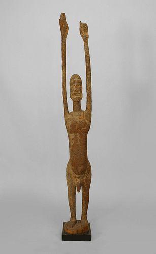 African Wooden Fertility God Figure