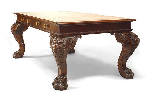 English/Irish Georgian Mahogany Table Desk