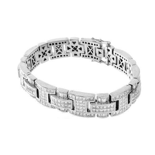 Man's Diamond and Platinum Bracelet