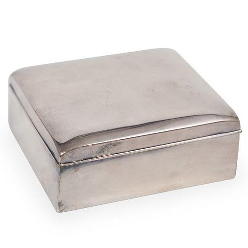 Poole Sterling Silver Cigarette Box