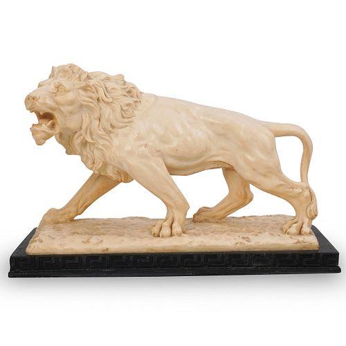 A. Santini Lion Marble Composite Statue
