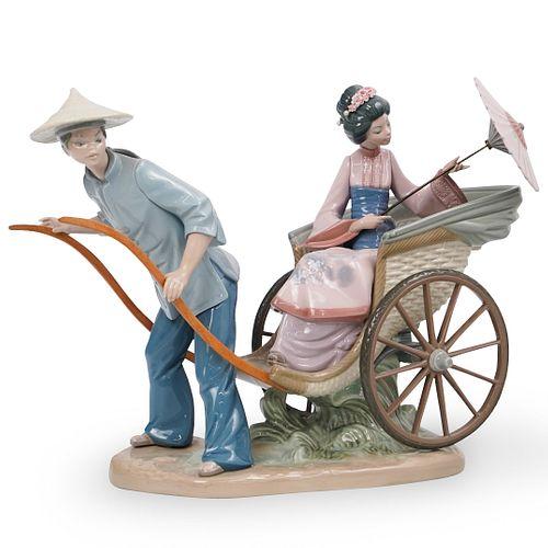 "Lladro ""Japanese Rickshaw"" Porcelain"