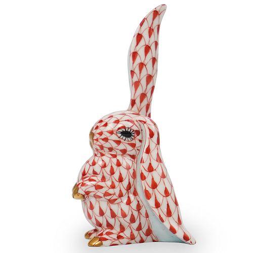 Herend Fishnet Rabbit Figurine