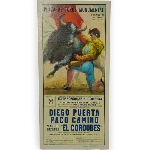 Plaza de Toros Monumental Bullfighting Poster