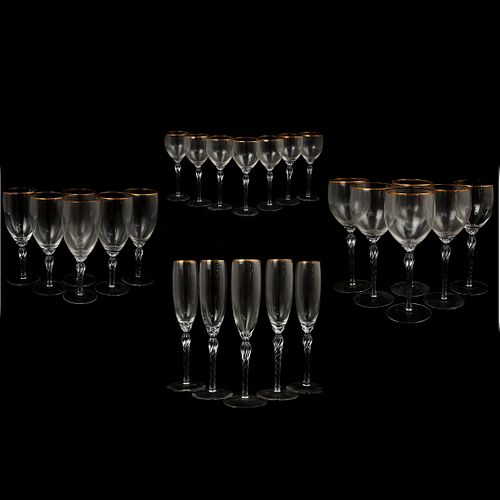 "(24 Pc) Lenox ""Monroe"" Crystal Glasses"