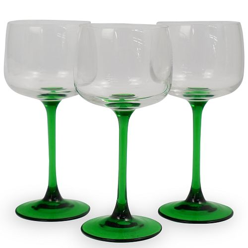 (3 Pc) Luminarc Wine Glasses France