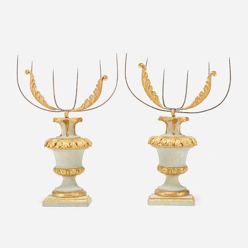 Italian, monumental candelabra, pair