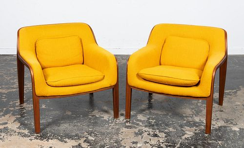 PAIR, BILL STEPHENS FOR KNOLL LOUNGE CHAIRS