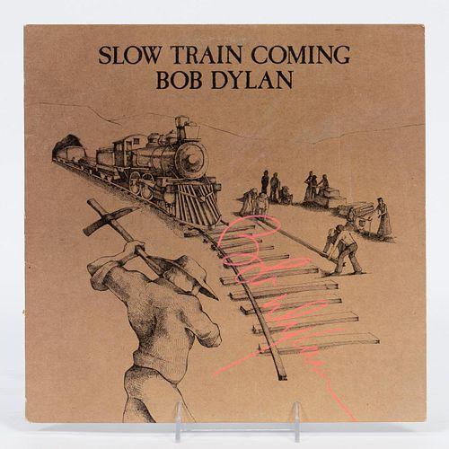 "BOB DYLAN, ""SLOW TRAIN COMING"" AUTOGRAPHED ALBUM"