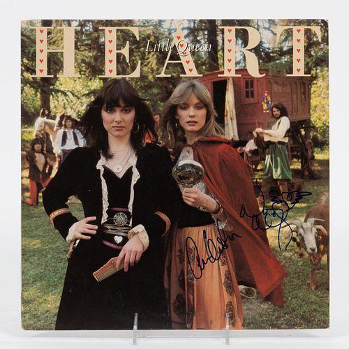 "HEART AUTOGRAPHED, ""LITTLE QUEEN"" RECORD ALBUM"