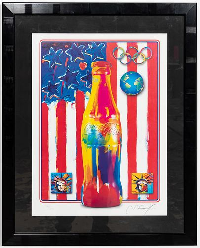 """PETER MAX, """"XIX OLYMPIC WINTER GAMES"""" LITHOGRAPH"""
