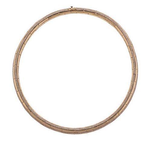 Nirav Modi 18K Gold Diamond Embrace Choker Necklace