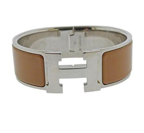 Hermes Clic Clac H Steel Enamel  Bracelet