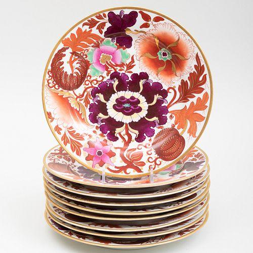 Set of Nine Barr, Flight & Barr Porcelain Plates
