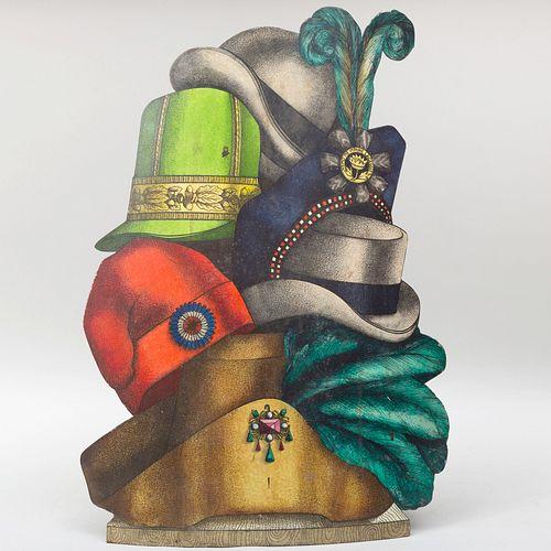 Fornasetti Design Tole Umbrella 'Cappelli' Stand